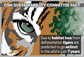 Sustainability Committee Tiger Poster