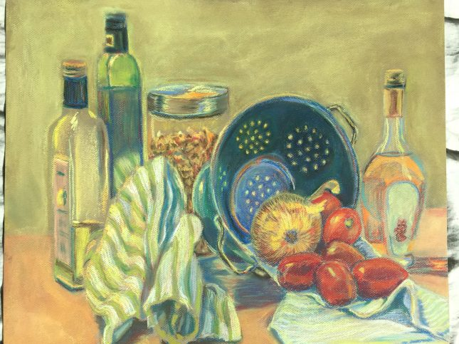 Still Life with Olive Oil